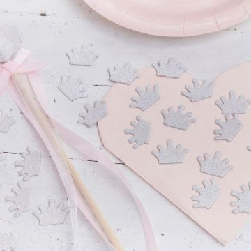 Princess Perfection Silver Crown Table Confetti